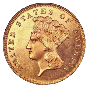 Invest in Gold by buying the 3 Dollar Indian Gold coin