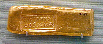 gold bars from Roman times play a special role in the history of gold bars