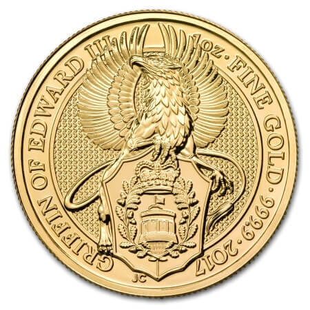 2nd gold coin of the Queen's Beasts coin series