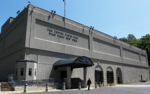 entrance to the West Point branch of the United States Mint