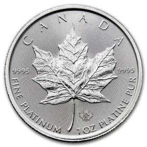 buy platinum coins like the Canadian Platinum Maple Leaf