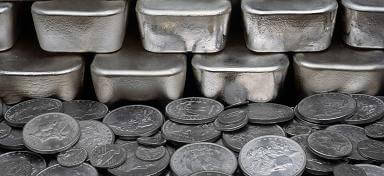 small silver coins are better than large bars for bartering