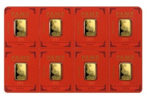 PAMP Suisse's Multigram divisible gold bars are also available with Chinese lunar designs
