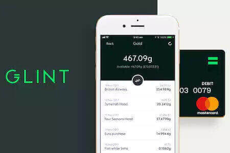 You can now buy and send gold through the Glint app and spend it with the Glint Mastercard