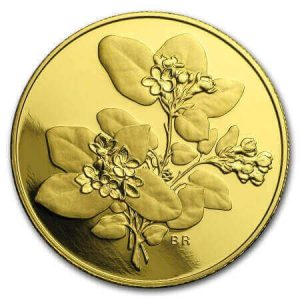 Canada's 2001 provincial flowers Mayflower coin counts among the purest bullion coins out of gold