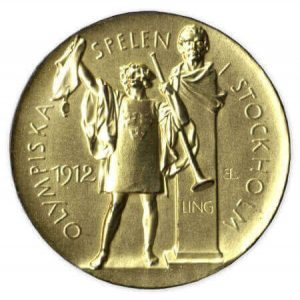 obverse side of the 1912 Olympic gold medal