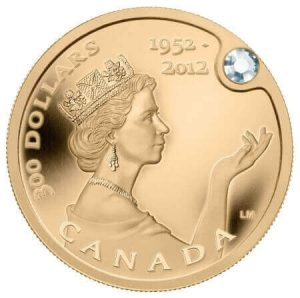of all the diamond gold coins, this is the only one where the diamond is visible from both sides