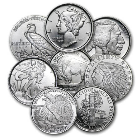 Silver is the metal that most precious metal rounds that are available on the market are made of