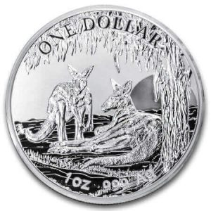 These are the Royal Australian Mint's 2018 Silver Kangaroos with a frosted uncirculated finish