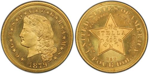 one of the US pattern coins that were never approved is the $4 gold piece