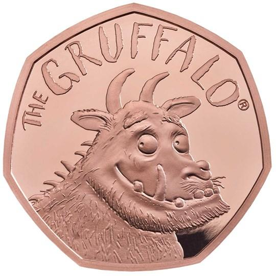 only 600 pieces of the gold version of the Gruffalo coins were minted
