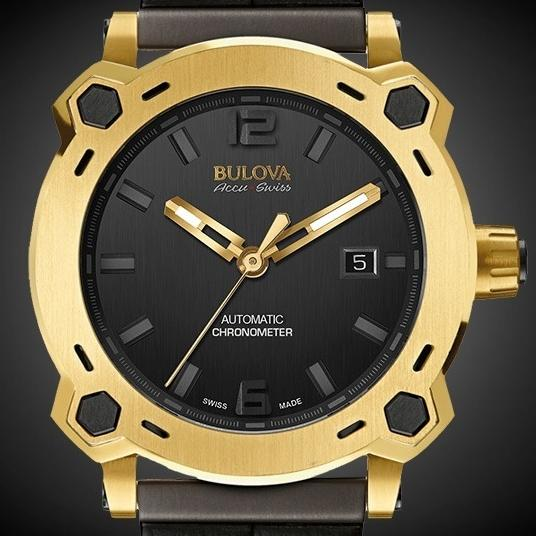 "the Bulova Accu-Swiss ""First Edition of the Joseph Bulova Collection"" Percheron 24k gold watch"
