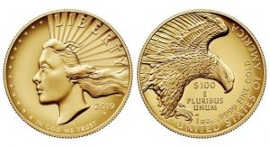 design of the 2019 American Liberty High Relief Gold Coin