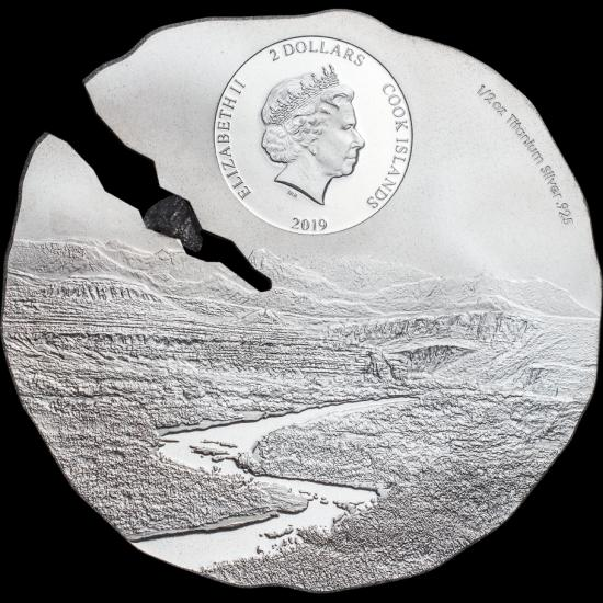 the Estacado Meteorite titanium silver coins contain a fragment of the Estacado meteorite