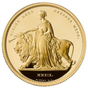 this is how the famous historic design looks on the 2 oz proof Una & The Lion gold coin