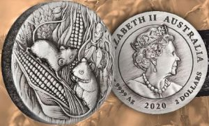 These 2 oz antiqued silver coins that are a part of the 3rd Australian Lunar coin series are still available for purchase online!