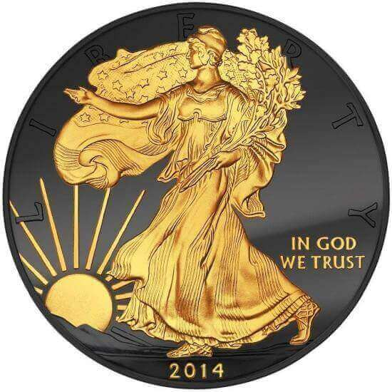 modified Silver Eagle of the Golden Enigma series of modified bullion coins