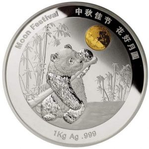 "The golden moon in this coin is made of real ""space gold"" in the sense that it has flown in space for 69 months!"