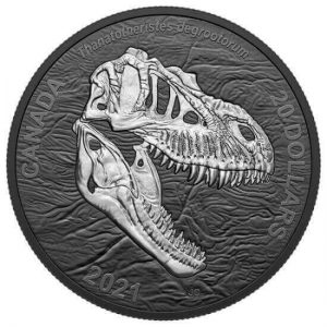 these beautiful dinosaur-themed rhodium-plated silver coins that the Royal Canadian Mint released just this month are unfortunately already sold out