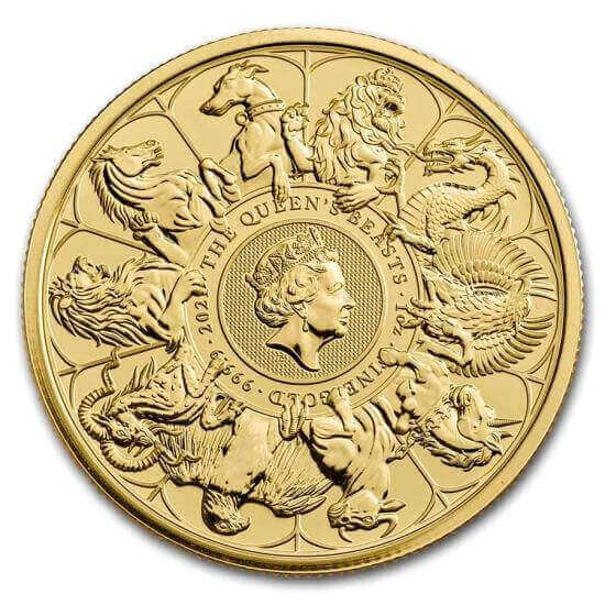 reverse side of the 2021 Queen's Beasts Completer Coin