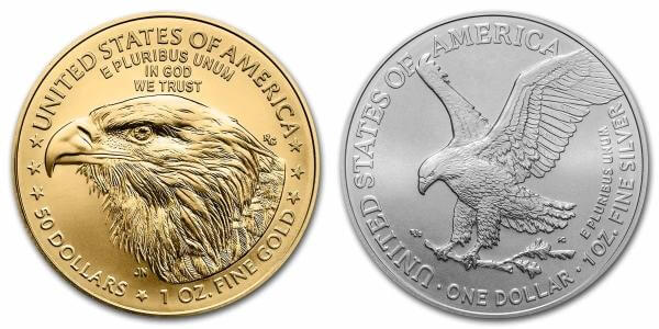 reverse side design of the new 2021 American Eagle Type 2 coins